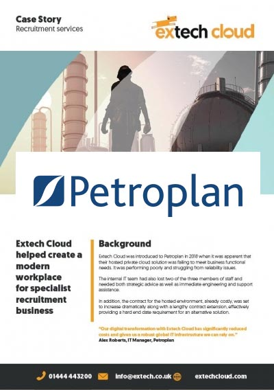 Petroplan cloud case story