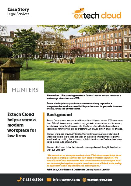 Extech Case Study - Hunters Law LLP
